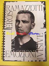 BOOK LIBRO EROS RAMAZZOTTI Emozioni visive 1997 MONDADORI foto no cd lp mc