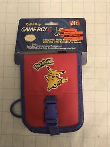 GAMEBOY Color POKEMON PICACHU Carrying Case GB2 Nintendo 1999 vintage NEW Rare