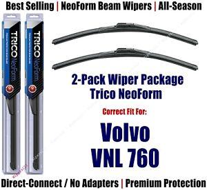 2pk Super-Premium NeoForm Wipers fit 2019 Volvo VNL 760 - 16240x2