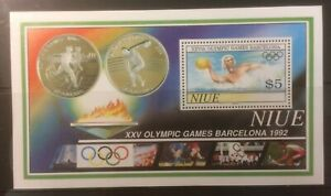 NIUE 1992 OLYMPICS MNH M/S CAT £14