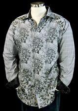 Robert Graham XL Shirt Limited Edition Theories Grey Long Sleeve Swarovski New