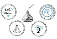 216 (54 ea of 4 designs) Bridal Shower Kiss Kisses Label Stickers Favors