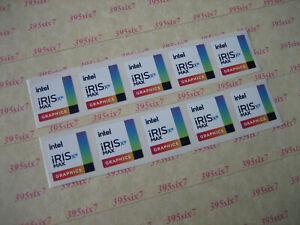 intel iris xe max graphics sticker ( 18mm x 18mm / 14mm x 14mm ) - 10 PCS