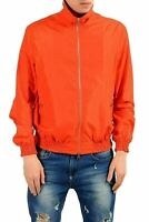Versace Collection Men's Orange Full Zip Windbreaker Jacket US S IT 48