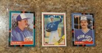 (3) David Wells 1988 Topps Traded Donruss Rookie card lot RC Yankees Blue Jays