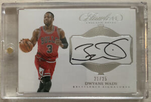 2016-17 Panini Flawless: Dwyane Wade (Bulls) Excellence Signatures 21/25