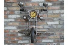 Vintage Motorcycle Clock Shelf