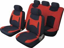 LAGUNA SECA UNIVERSAL FULL SET SEAT PROTECTOR COVERS RED & BLACK FOR NISSAN