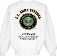 VIETNAM 709TH MAINTENANCE BN* 9TH INFANTRY DIVISION ARMY EMBLEM SWEATSHIRT