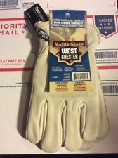 MASTER GUARD THINSULATE LINED COWHIDE WORK GLOVES (LARGE)