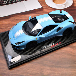 Last One BBR 1:18 Ferrari 488 Pista Azzurro La Plata Matt Blue Car Model Limited