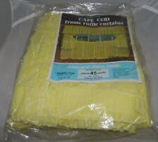 "Vintage Corona Curtain Cape Cod Frame Ruffle 45"" 1 Pair 60"" Wide Yellow"