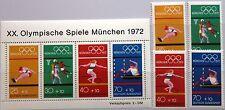 BRD GERMANY 1972 734-37 Block 8 B490-B490e Olympia Olympics München Sport MNH