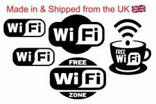 WiFi Decals pack of 5 Super Value Pubs Clubs Coffee Bars Restaurants