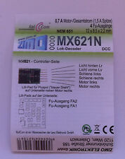 ZIMO MX621N Subminiatur Lokdecoder 6-pol.Schnittstelle Stecker DCC - neu Spur N