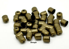 20 X Fin Capuchons perle conseils 6mm pour kumihimo bracelets & Colliers Bronze antique