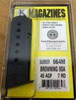 Browning BDA .45 ACP 7 Round RD Blued Steel Magazine/Mag Triple K 964M