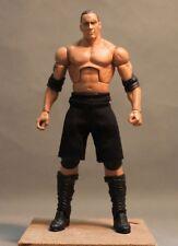 "NOX-SS: FIGLot Black Fabric Shorts for 7"" Mattel Elite Wrestling WWE Figures"