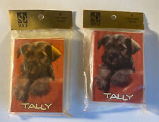 2 Vintage 8 Two-Table Tallies by Hoyle, Bridge, Unopened Pack,Schnauzer.