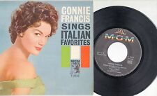 CONNIE FRANCIS  disco EP 45 giri MADE in ITALY Sings Italian Favorites GUAGLIONE