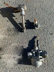 HONDA EXPRESS NC50 SCOOTER PARTS - Carburetor, Oil Pump, Petcock, UNTESTED/AS IS