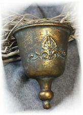 Nostalgische Blumen-ampel Shabby Hänge-ampel Topf  Metall Landhaus gold Pflanz