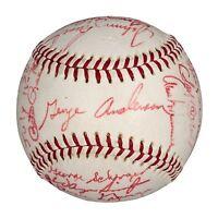 1970 Three Rivers Stadium Opening Game Cincinnati Reds Team Signed Baseball JSA