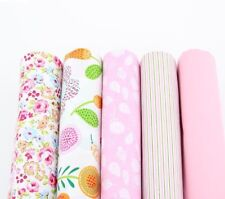 Breathable Pink Fabric Fat Quarter Printed Patchwork Sewing Quilting Cloth Craft