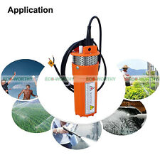 Stainless Steel Solar Powered Submersible Pump 12V DC Water Well Pump for Farm
