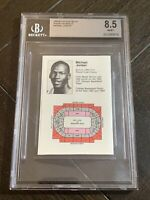 1984-85 Chicago Bulls Pocket Schedule Pre 1986 Fleer Michael Jordan 🔥BGS 8.5!!!