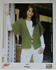 """Green Jarbo Garn Fast Knit Vest Penguin Sleeve Knitting Kit for Women 32"""" - 44"""""""