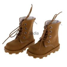 Khaki Casual Nubuck Leather Lace Up Boots Shoes for 1/3 BJD SD Dress Up ACCS