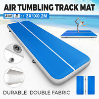 3M Vevor Blau Aufblasbar Air Tumbling Track GYM Gymnastikmatte Yoga Matte