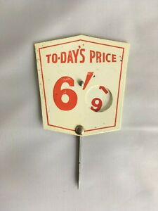 DECORATIVE ORIGINAL GROCERS SHOP PRICING DISPLAY SIGN - 3 by 2.5 inches