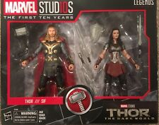 Marvel Legends Studios 1st 10 years Thor & Lady Sif Dark World Movie in stock