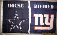 DALLAS COWBOYS vs NEW YORK GIANTS 3x5 FEET FLAG BANNER HOUSE DIVIDED DAL NY NEW
