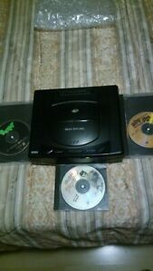 Sega Saturn Console With Games No Connections Tested Works