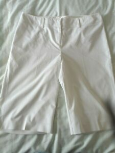 Ladies size 16 Next cream smart summer shorts