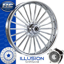"""RC Components Illusion Chrome Custom Motorcycle Wheel Harley Touring Baggers 21"""""""