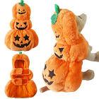 Hot Halloween Pumpkin Costume Outfit Puppy Dog Cat Pet Clothes Warm Coat Apparel