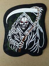 Grim Reaper Biker Parche Coser o Pegar en parche.