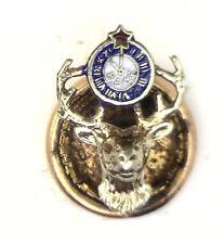 Antique Vintage 14k Gold Enamel Elks Fraternal Order Lapel Pin #N961