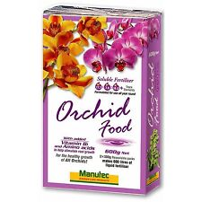 Manutec ORCHID FOOD SOLUBLE FERTILISER Enhance Growth All Year, Fast Acting 600g