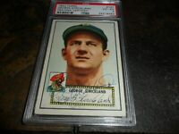 1952 Topps George Strickland #197 PSA/DNA Certified Auto PIRATES Rookie D.2010