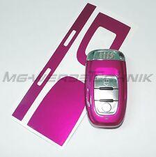 3A_Schlüssel-Dekor Aufkleber für Audi A4 A5 A6 Q5 magenta metallic glänzend