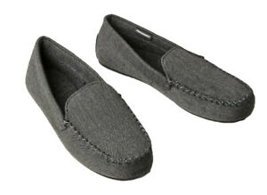 Ex M*S Mens Moccasin Slippers with Thermowarmth™ in Grey (DQ2.33)