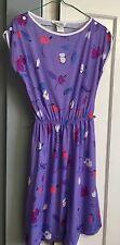 Vtg 70's Mari Lynn Fashions Dress Summer Spring Lightweight Purple sz 12p Union
