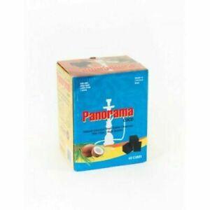 PANORAMA COCONUT CHARCOAL CUBES FOR SHISHA HOOKAH BBQ COAL