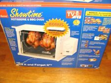 NEW RONCO SHOWTIME ROTISSERIE & BBQ Oven COMPACT White ST3001WH Deluxe 3000