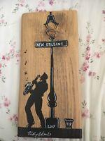 """Rickey Charles Katrina Series. Hand Painted On Katrina Wood """"A Charles Original"""""""